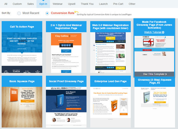 LeadPages: landing page creator tool